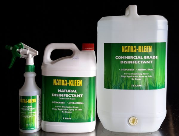 Natrakleen Natural Disinfectant - A unique, highly innovative, Natural, Commercial Grade Disinfectant Designed to be Effective, Reliable and Powerful whilst at the same time being gentle on you and the environment.