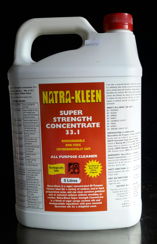 Natrakleen-SuperConcentrate-800px - NatraKleen All Purpose Cleaner, 5-litre | Terranora, NSW 2486
